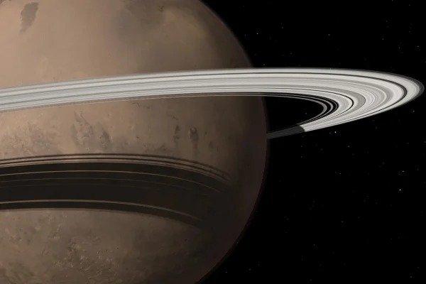 Кольца у Марса