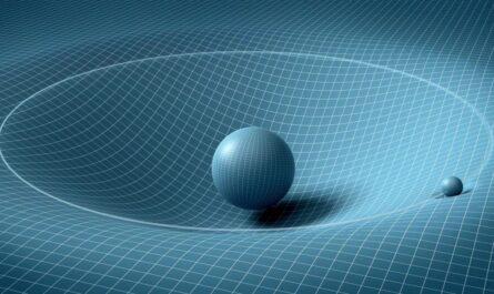 Гравитация в представлении художника, но не физика