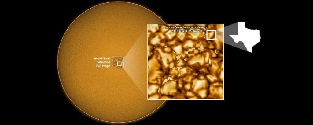 Самая детальная фотография поверхности Солнца