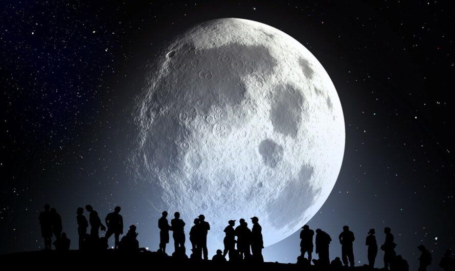 Почему Луна вращается под углом?
