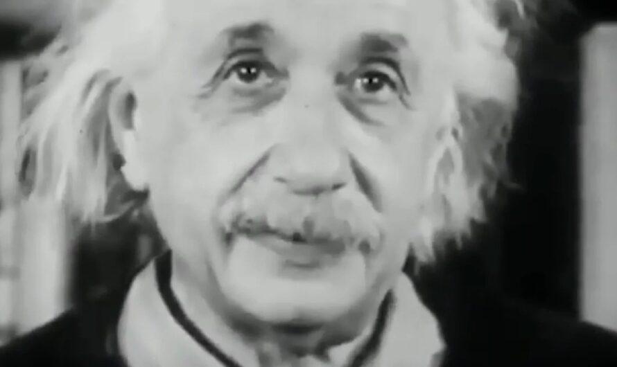 Редкие кадры выступления Альберта Эйнштейна