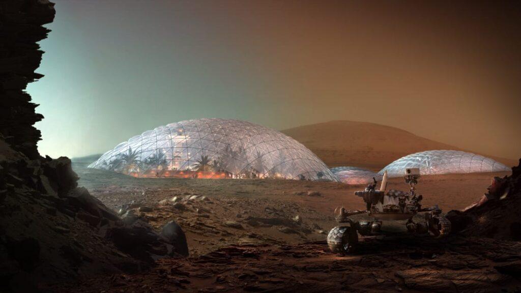 Появилась удивительная концепция марсианского города