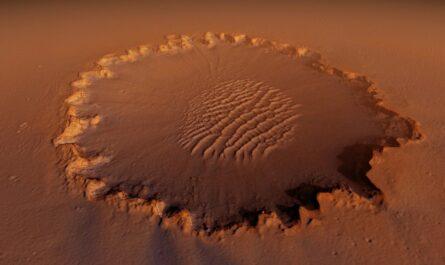 Пролетая над Марсом: кратер Виктория