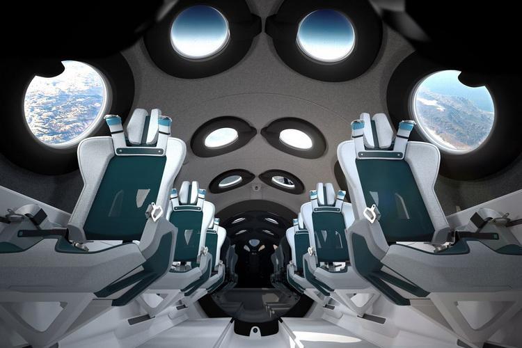 Virgin Galactic показала интерьер кабины космоплана SpaceShipTwo