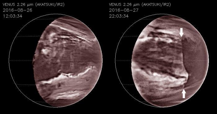 В атмосфере Венеры обнаружена гигантская «лавина» ядовитых облаков