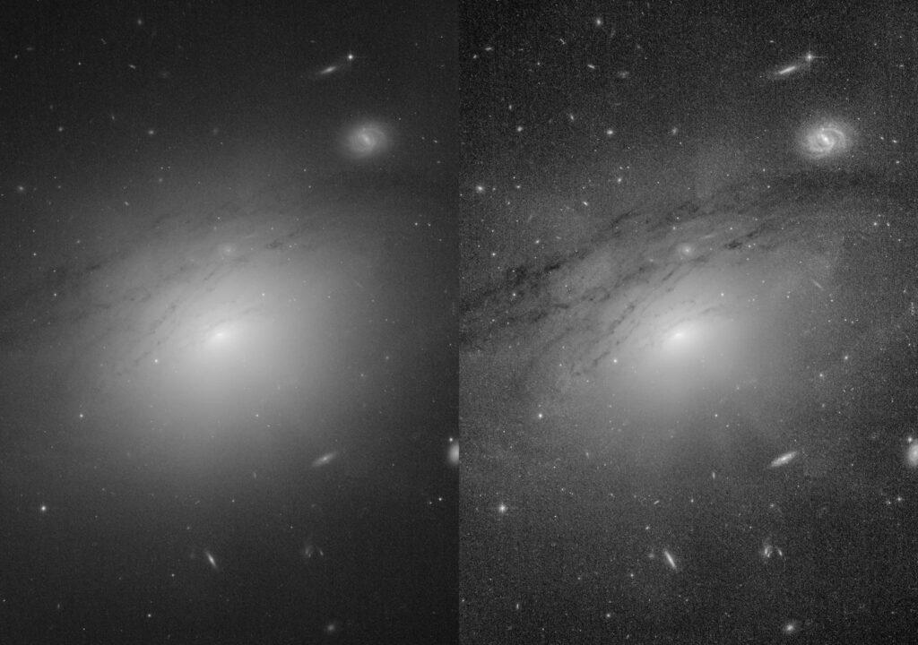 """Астрономы наблюдают огромные """"темные лучи"""", исходящие от черной дыры"""