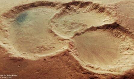 На Марсе обнаружен кратер на кратере, который находится на другом кратере