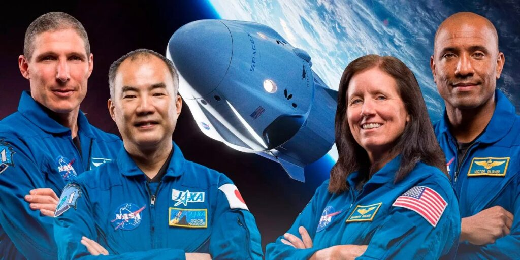 Запуск SpaceX Crew-1 с четырьмя астронавтами отправился на МКС