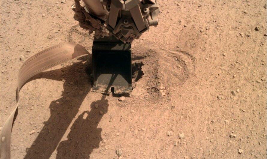 Бур аппарата NASA InSight удалось погрузить в марсианский грунт