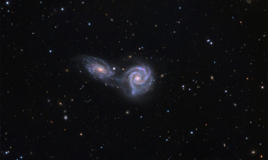 Very Large Telescope показал «танец» двух галактик