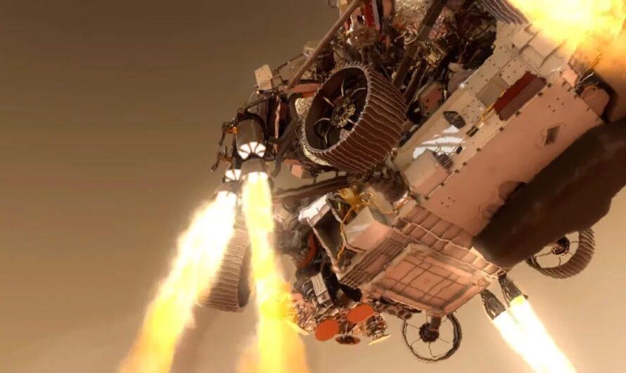 NASA показало, как ровер Perseverance будет садиться на поверхность Марса