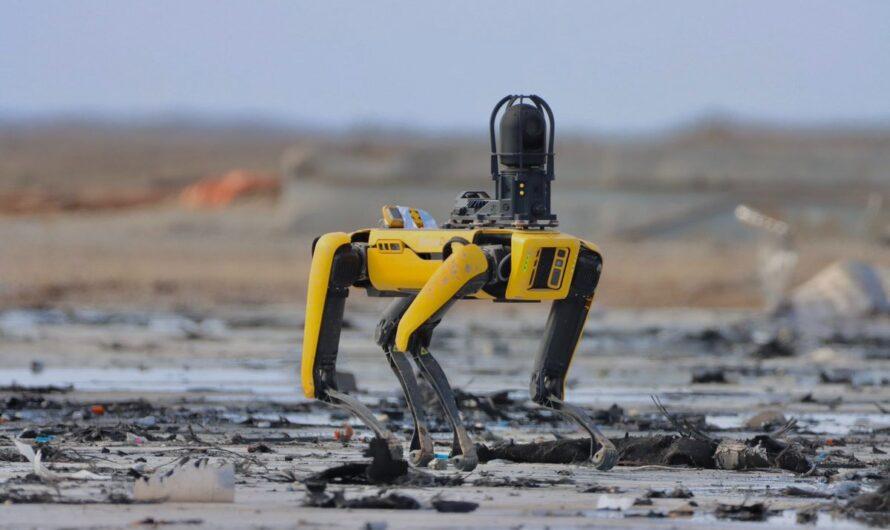 Робот-собака Zeus помогает SpaceX исследовать место крушения прототипа Starship SN10