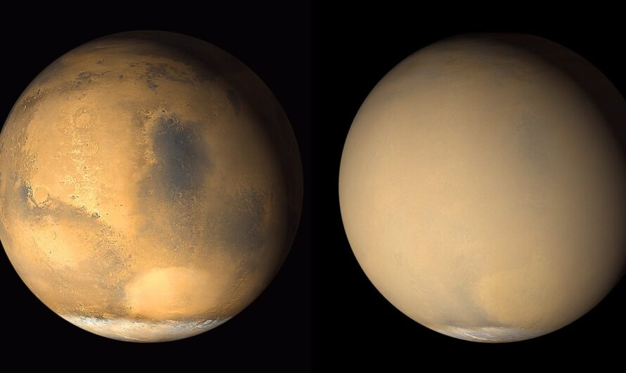 На Марсе начинает мощная буря