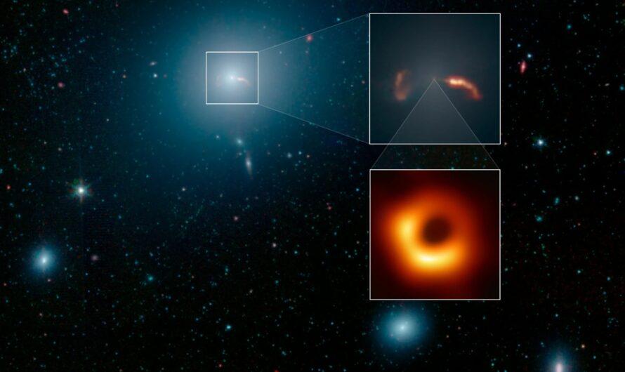 NASA показало галактику M 87, скрывающую гигантскую черную дыру