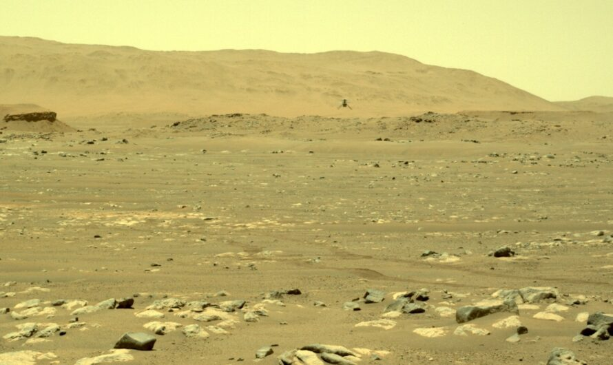 Пять метров над уровнем Марса: вертолет NASA Ingenuity совершил второй полет