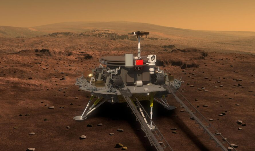 Китайский марсоход Zhurong прислал первые фотографии с поверхности Красной планеты