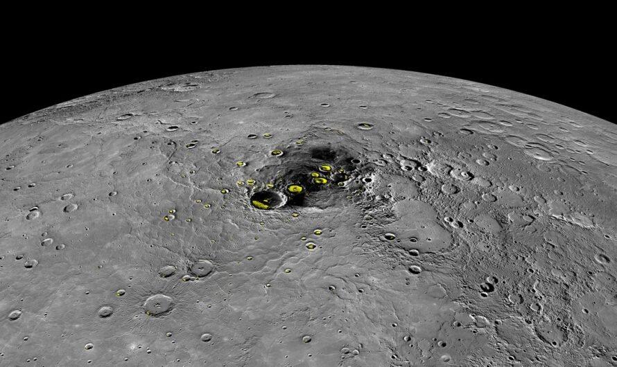 В кратерах Меркурия обнаружены залежи водяного льда